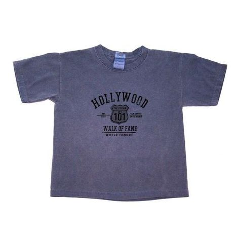 Hollywood Walk Of Fame In Blue Kids T-Shirt