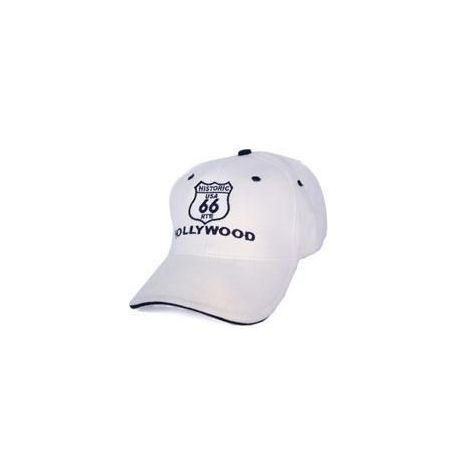 White Route 66 Cap