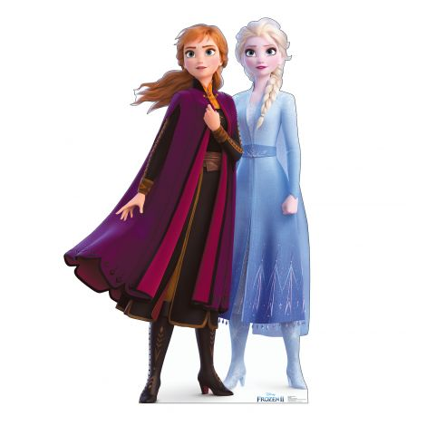 Anna & Elsa Cutout from Disney's Frozen II *2947