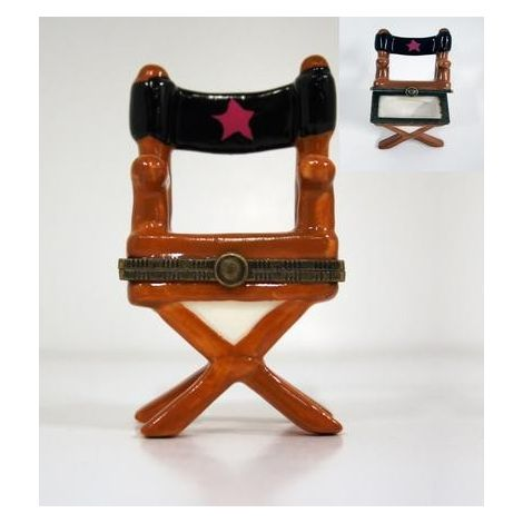 Mini Ceramic 'Director Chair'