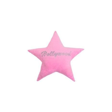 Hollywood Star Studded Plush Pillow - Pink