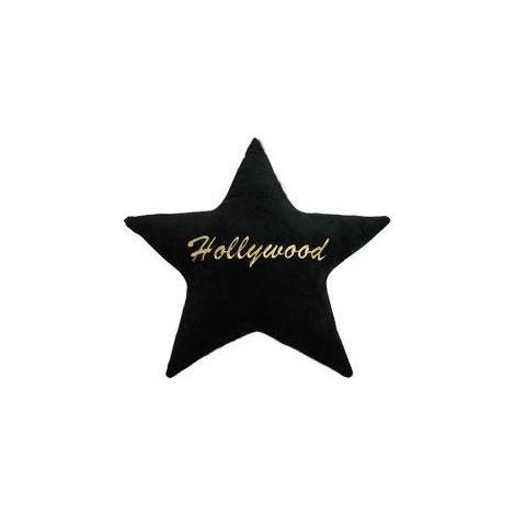 Hollywood Star Plush Pillow - Black