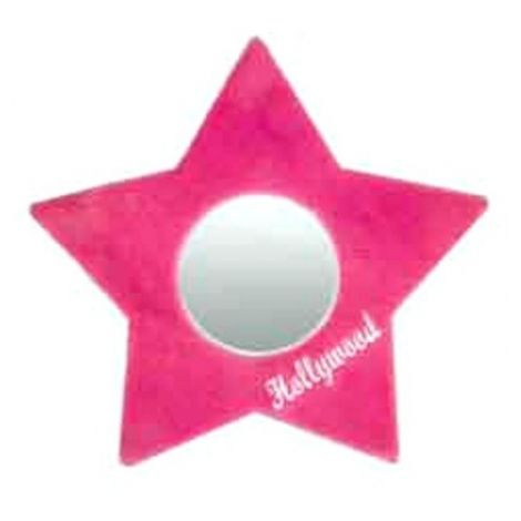 Plush Star Mirror  -Pink