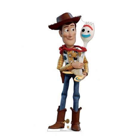 Woody and Forky from the Disney, Pixar film Toy Story 4 Cardboard Cutout *2994