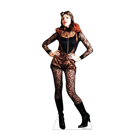 Steampunk Female Cardboard Cutout *3001