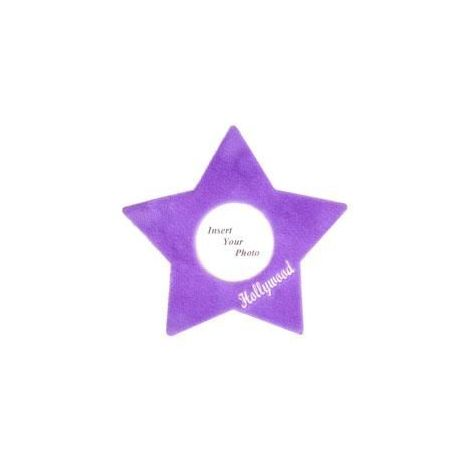 Plush Star Picture Frame - Violet