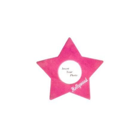 Plush Star Picture Frame -Pink