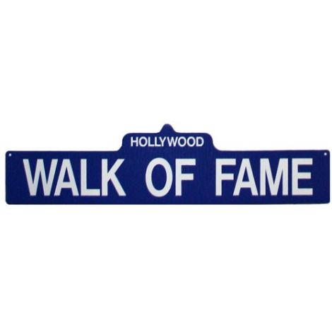 Walk of Fame Street Sign