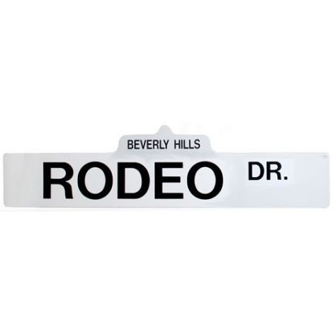 Rodeo Dr. Street Sign
