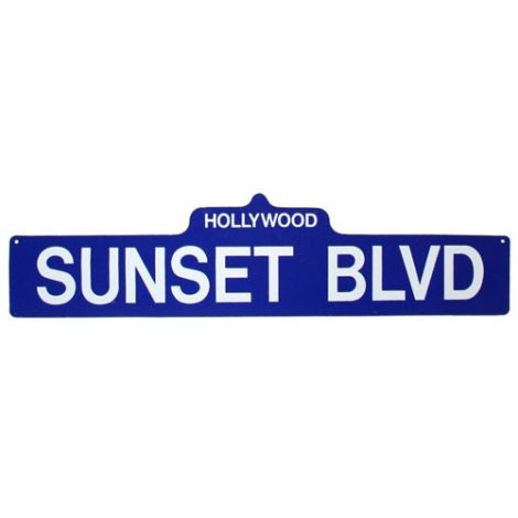 Sunset Blvd. Street Sign
