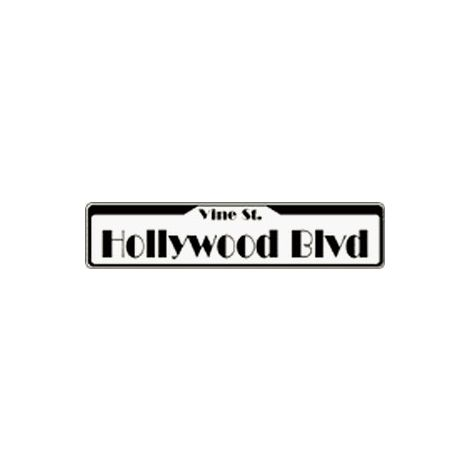 Hollywood Blvd. Tin sign