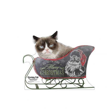 Grumpy Cat Christmas Cardboard Cutout *3048