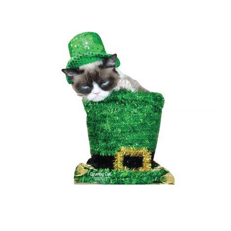 Grumpy Cat St. Patrick's Day Cardboard Cutout *3049