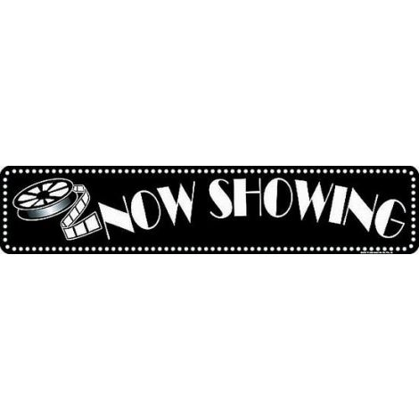 """""""Now showing"""" Tin Sign"""
