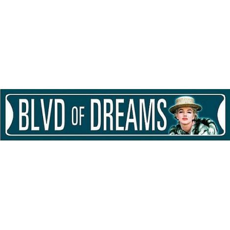 Marilyn Monroe - Boulevard of Dreams Tin Sign