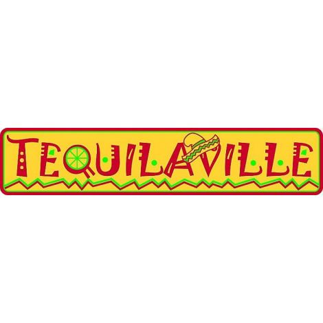 Tequilaville Tin Sign.