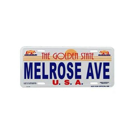 Melrose Avenue License Plate