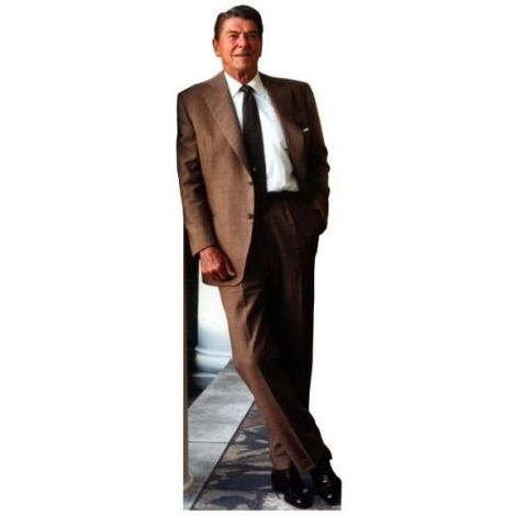 Ronald Reagan Cutout Brown Suit #573