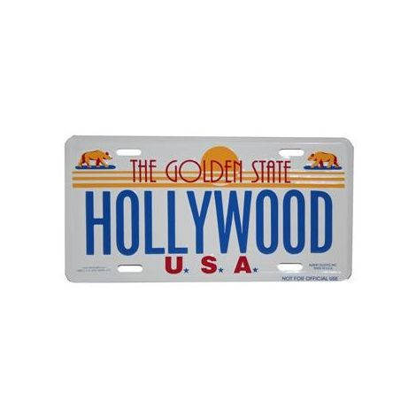 Hollywood, The Golden State License Plate