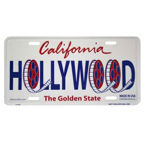 Hollywood Reels License Plate
