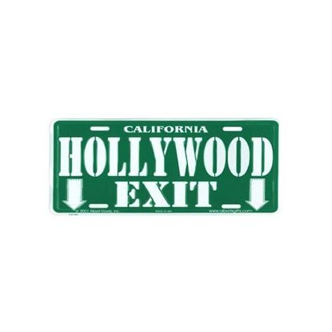 Hollywood Exit License Plate