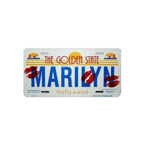 Marilyn License Plate