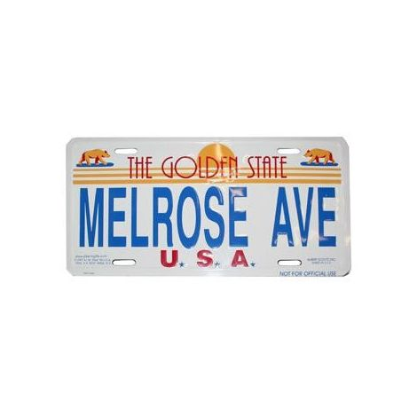Melrose Ave, Los Angeles License Plate