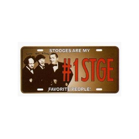 Three Stooges License Plate