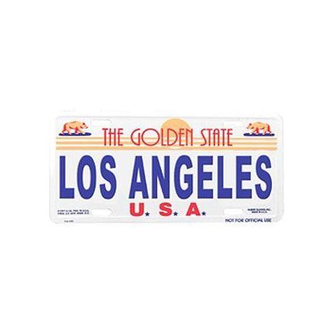 L.A. License Plate