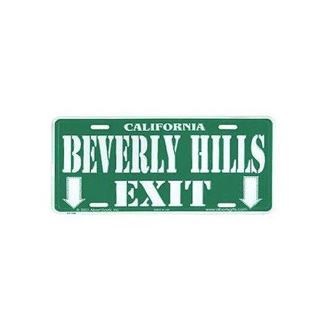 Beverly Hills Exit License Plates