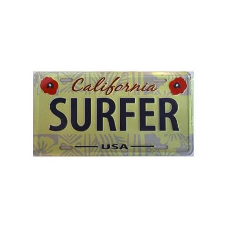 Surfer License plate