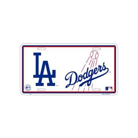 LA Dodgers License Plate