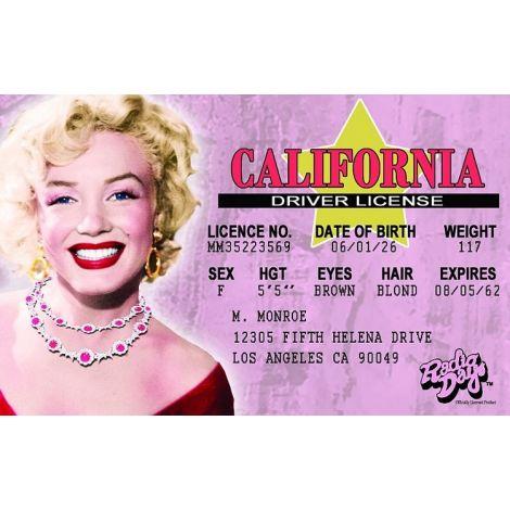 Marilyn Monroe Novelty Driver License