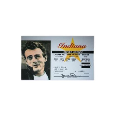 James Dean Novelty Driver License