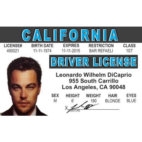 Leonardo DiCaprio Novelty Driver License