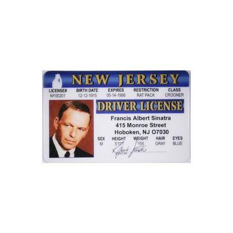 Frank Sinatra Novelty Driver License