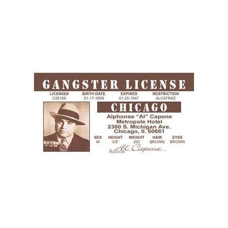 Al Capone gangster's license.