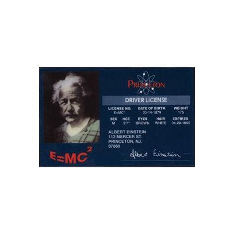Albert Einstein driver license