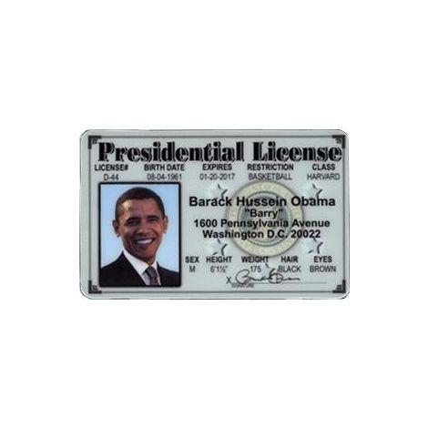 Barack Obama presidential license.