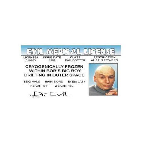 Dr. Evil Medical License