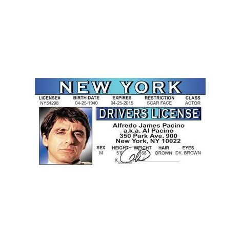 Al Pacino Driver licesse