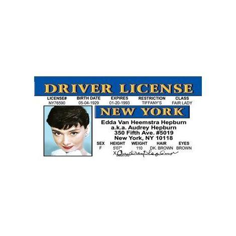 Audrey Hepburn Driver License