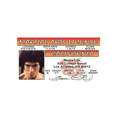 Bruce Lee Martial Arts License
