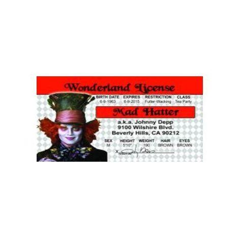 Johnny Depp Mad Hatter License