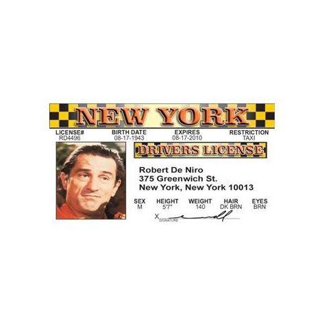 Robert De Niro Driver License