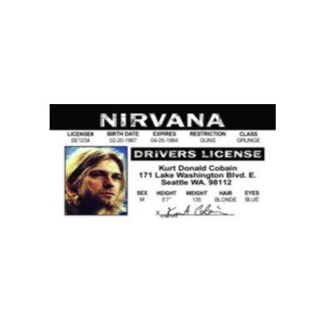 Kurt Cobain Driver License
