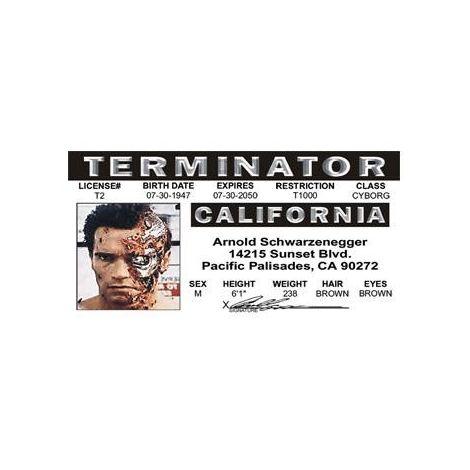 Terminator Driver License