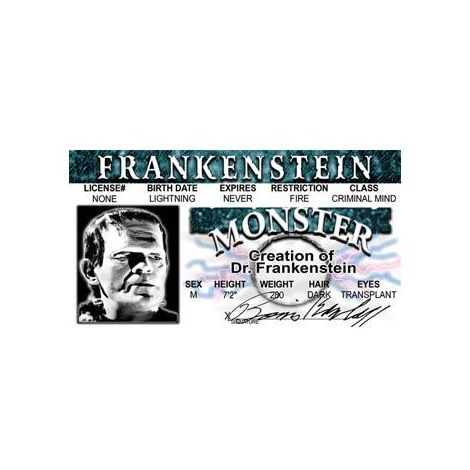 Frankenstein  Driver License