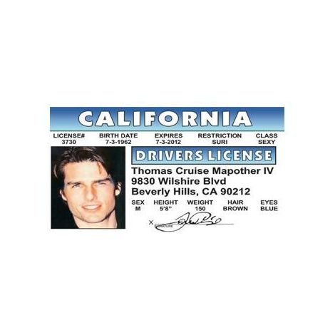 Tom Cruise  Driver License