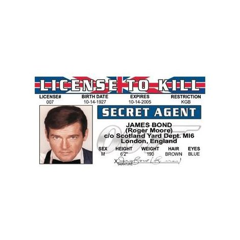 James Bond Roger Moore License to Kill